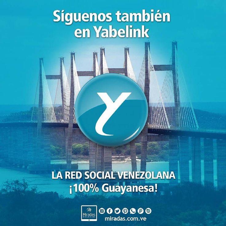 Te invitamos a seguirnos en @yabelink y apoyar este magnífico emprendimiento digital 100% venezolano. . . . #MiradasMagazine #Miradas #Yabelink #Anzotegui #Guayana #pzo #PuertoOrdaz #Venezuela #EmprendedoresVenezolanos.