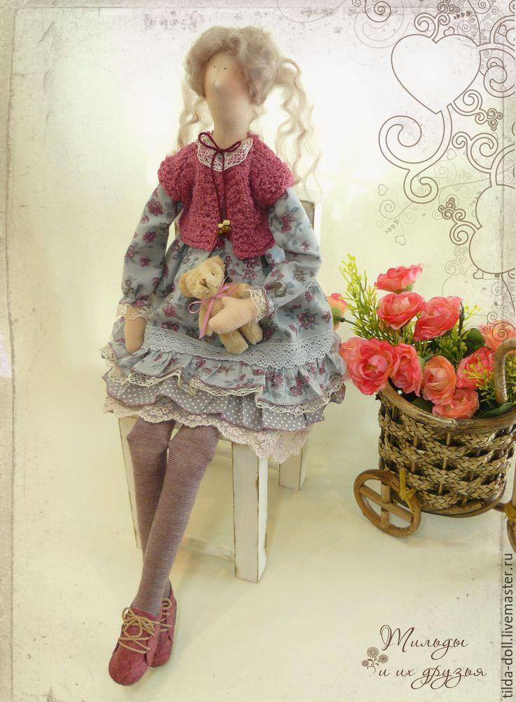 Купить Кукла в стиле Тильда: Лерочка - тильда, кукла Тильда, куклы тильды, текстильная кукла