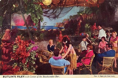 Butlin's Filey - The Beachcomber Bar vintage nautical mid-century tiki restaurant
