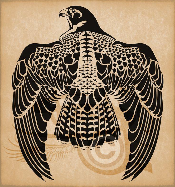 Egyptian Horus Peregrine Falcon by Amoebafire.deviantart.com on @DeviantArt