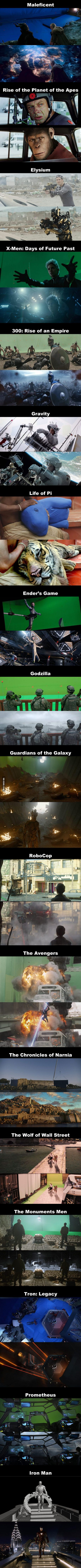 Before And After Special Effects Of 18 Well-known Movies