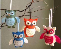 owl christmas tree ornaments felt homemade baby gifts