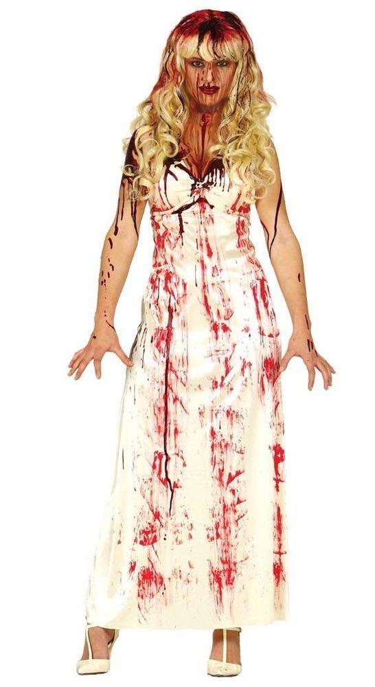 Ladies zombie halloween Corpse Bride Costume Zombie Bride  Fancy Dress