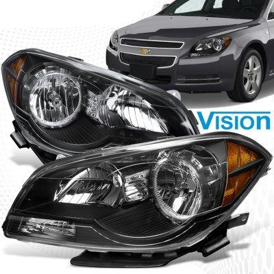2012 Chevy Malibu Black Crystal Headlights