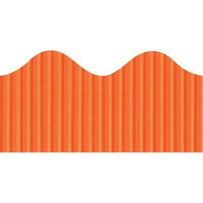 Pacon Creative Products Scalloped Bordette Decorative Classroom Border Color: Orange