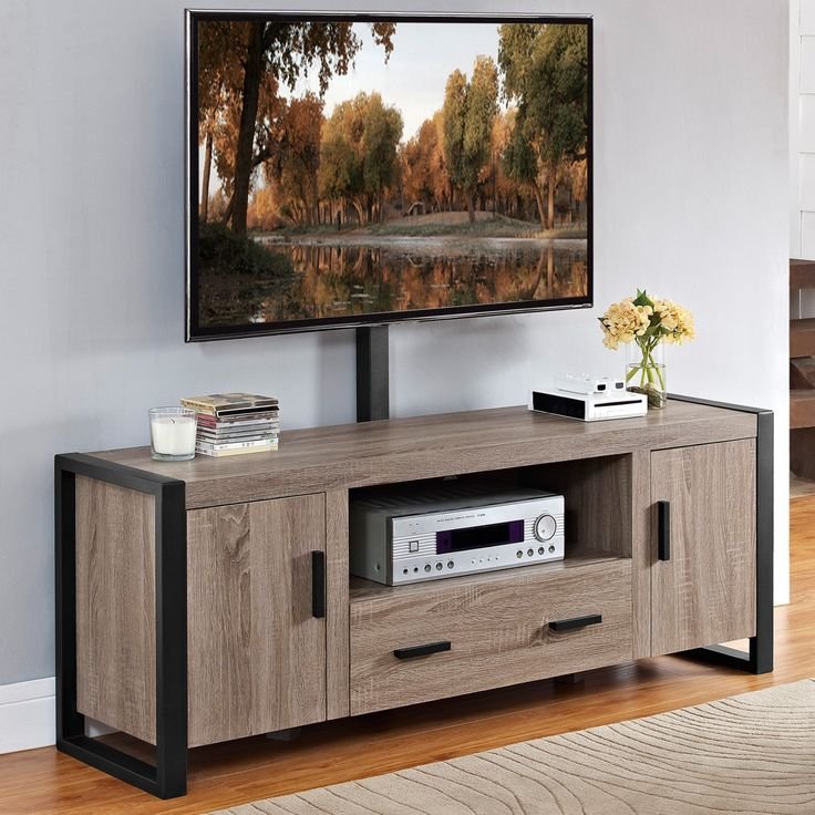 Walker Edison Urban Blend TV Stand with Mount - HN60UBC22AG-MT