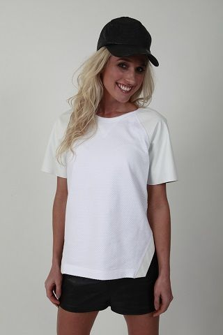 Playoff Leather Short Sleeve Sweat - www.hideseekers.com
