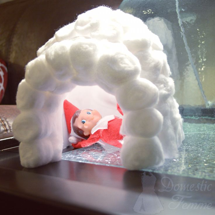 Elf Igloo - Elf On The Shelf 2014 Calendar (25+ NEW Ideas!) w/ FREE Printables