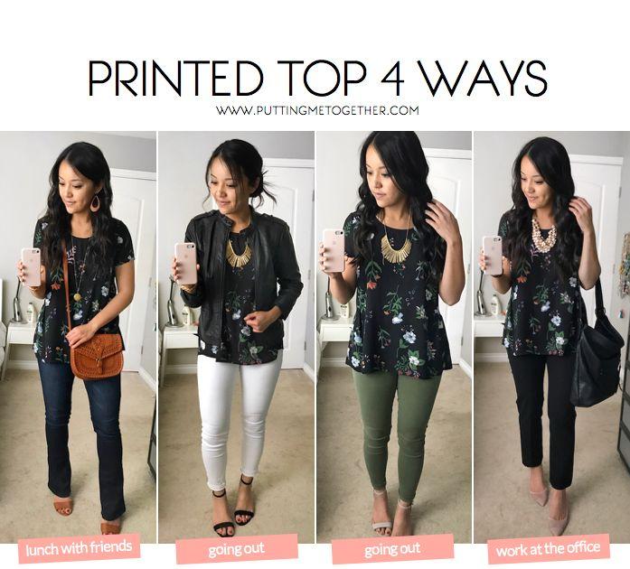 Floral Printed Top 4 Ways