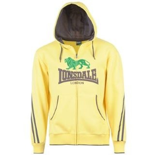 2 STRIPE LARGE LOGO ZIP CAPPUCCIO GIALLO