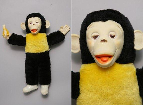 OMG!Bim Plush, Monkeys Dolls, Plush Monkeys, Bananas Monkeys, 60S, 60'S Dolls, Childhood, Vintage Toys, 60 S Monkeys