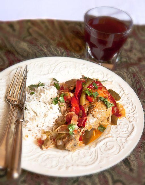 Chicken Basquaise #chicken #dinner #frenchfridays