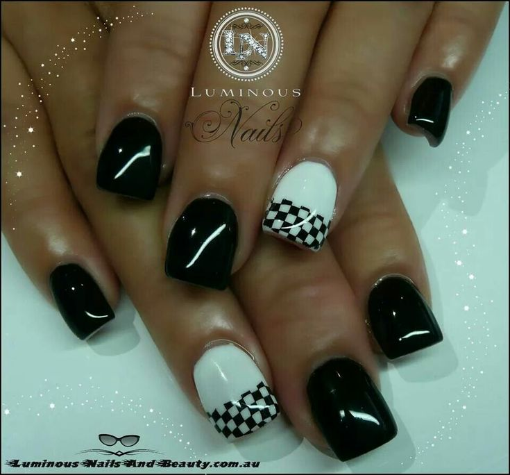 nascar nails - Bing Images - Best 25+ Checkered Nails Ideas On Pinterest Black And White Nail