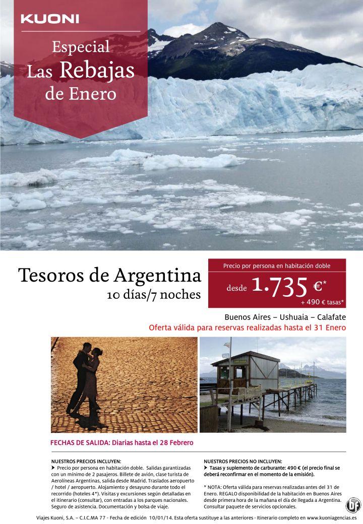 Las Rebajas de Enero - Tesoros de Argentina 10 días/7 noches desde 1.735 € + tasas ultimo minuto - http://zocotours.com/las-rebajas-de-enero-tesoros-de-argentina-10-dias7-noches-desde-1-735-e-tasas-ultimo-minuto/