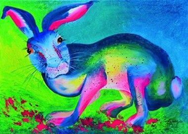 Colored rabbit