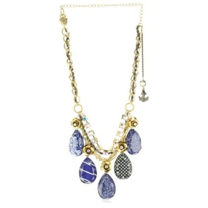 "Betsey Johnson ""In the Navy"" Lucite Drop Frontal Statement Necklace: Farrow Closet, Lucite Drop, Statement Necklaces, Drop Frontal, Betsey Necklaces, Betsey Johnson, Frontal Statement"