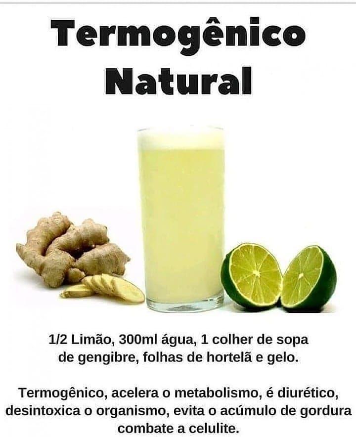 Termogenico natural gengibre e limao