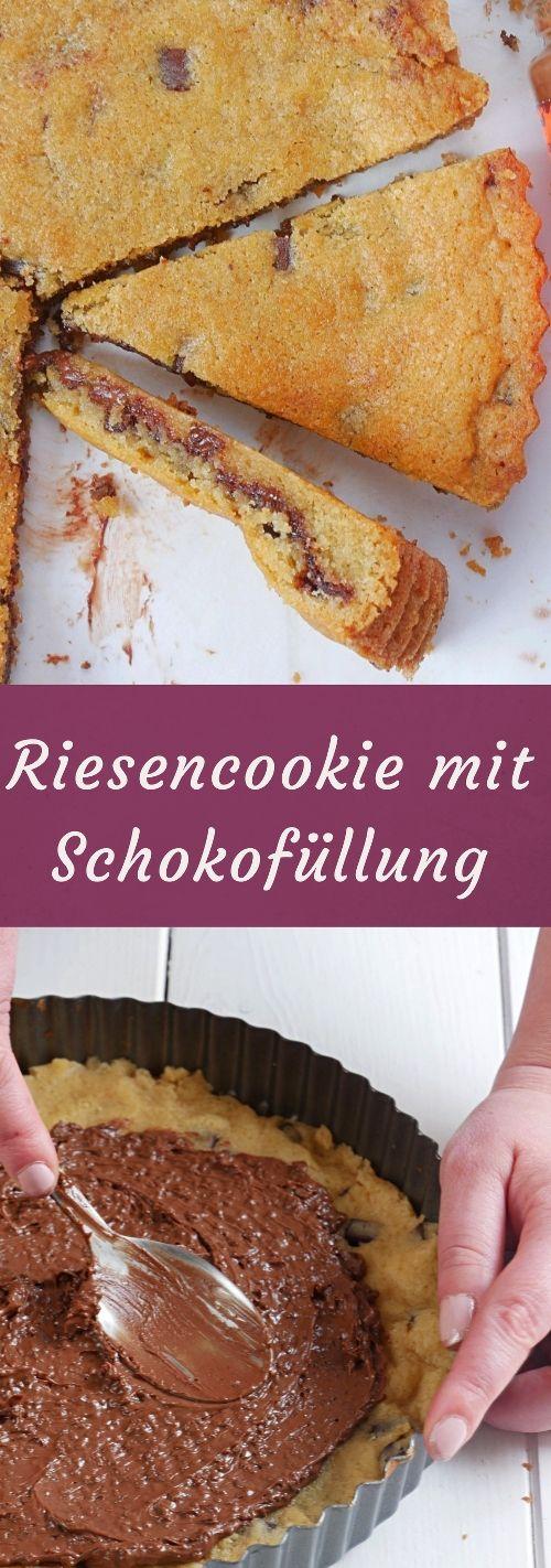 Ein Riesencookie mit warmer Schokofüllung. Was gibt es besseres?