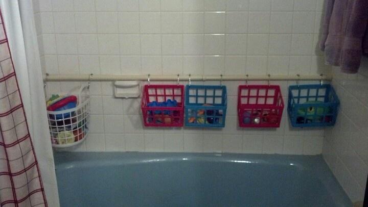 Bathtub Toy Storage Baskets From Dollar Tree An Old