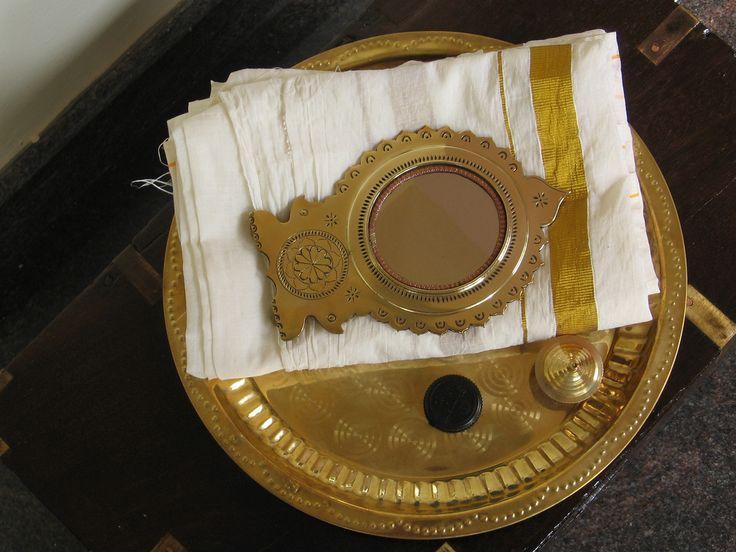 Aranmula kannadi, a traditional bronze mirror from Aranmula, Kerala