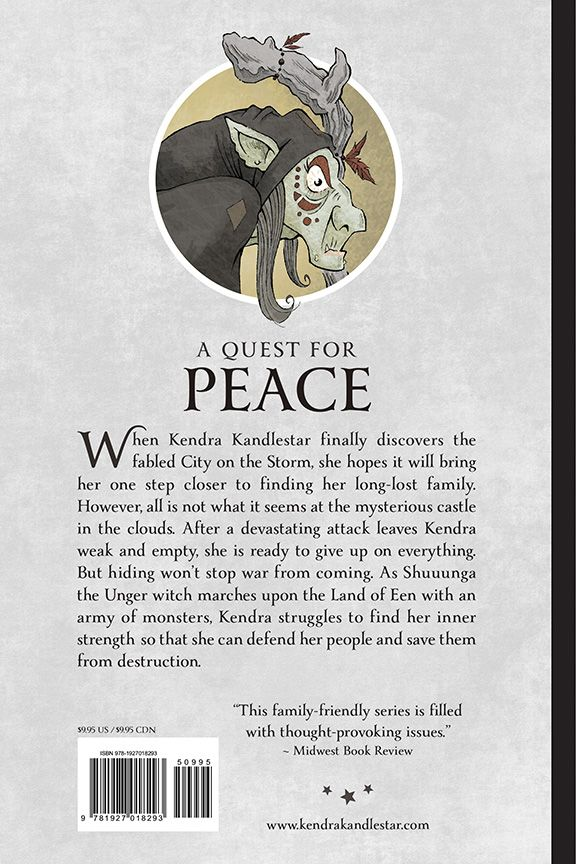 Back cover for Kendra Kandlestar and the Search for Arazeen (Book 5 - The Chronicles of Kendra Kandlestar.)