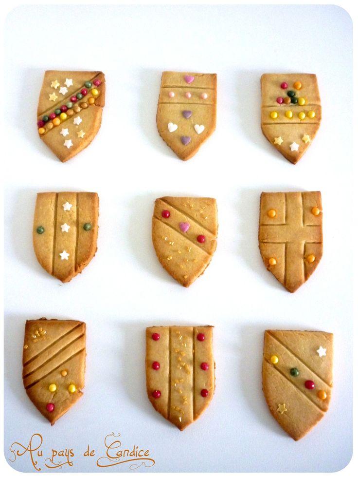 Sablés boucliers médiévaux au miel