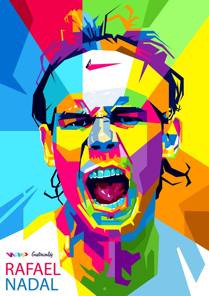 Rafael Nadal in Wedha's Pop Art Potrait  For order : zaldirizaldi@yahoo.com