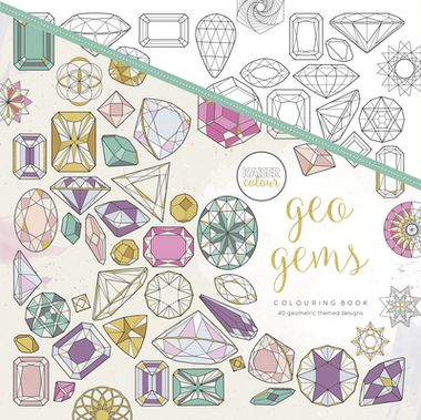 Geo Gems - Uncover 40 detailed geometric designs inside this book! Animals, mandalas, arrows and pages of patterns all made up of intricate geometric shapes. Each design is uniquely drawn using angular shapes and strong line work, which makes it even easier to colour. With a collection of all things drawn in a geometric style, we are sure this book will have you colouring for hours!