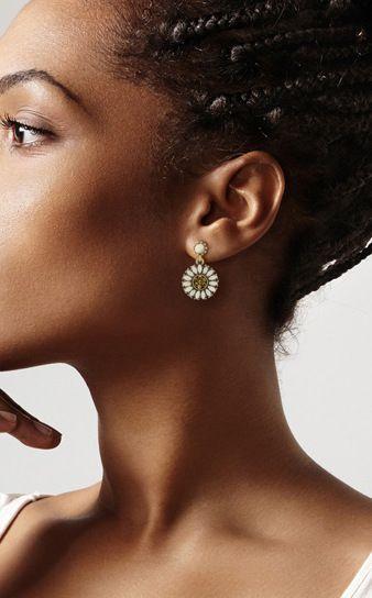 Sunflower Crystal Earring