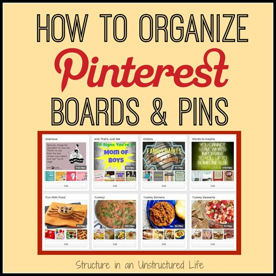 How to Organize Pinterest Boards and Pins -Momo