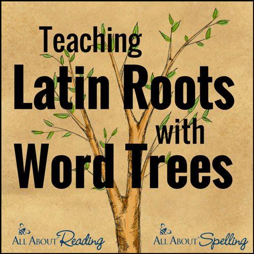 Free Latin Word Tree Chart