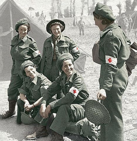 Females on the front line: Nurses dressed for action during the Second World War