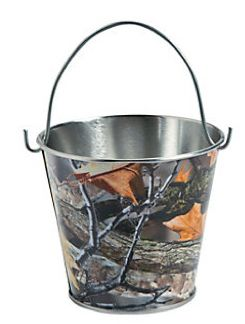 Camo Celebrations  - Hunting Camo Tin Pails 12-Pack, $12.50 (http://www.camocelebrations.com/hunting-camo-tin-pails-12-pack/)