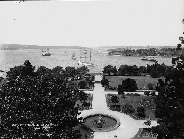 Harbour View from Government House. Photo circa 1900