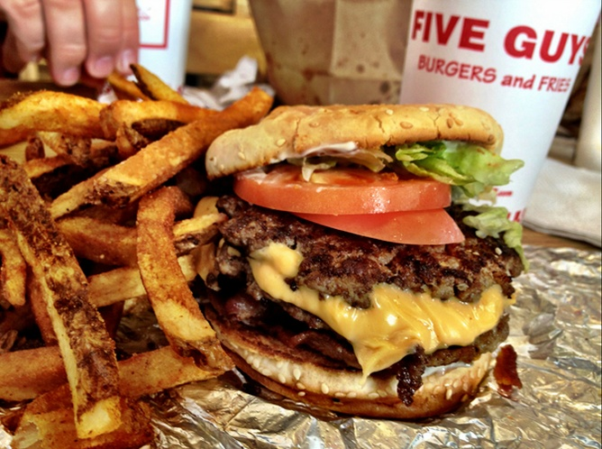 Coupon five guys burgers fries