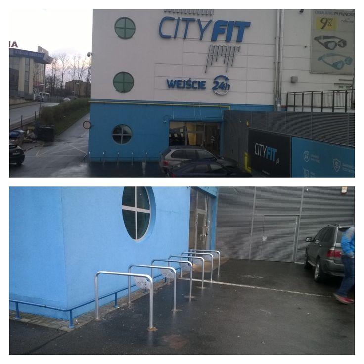 """""""Pod @cityfitpl można znaleźć porządne stojaki u-kształtne, co cieszy. #Lublin #rower"""""""