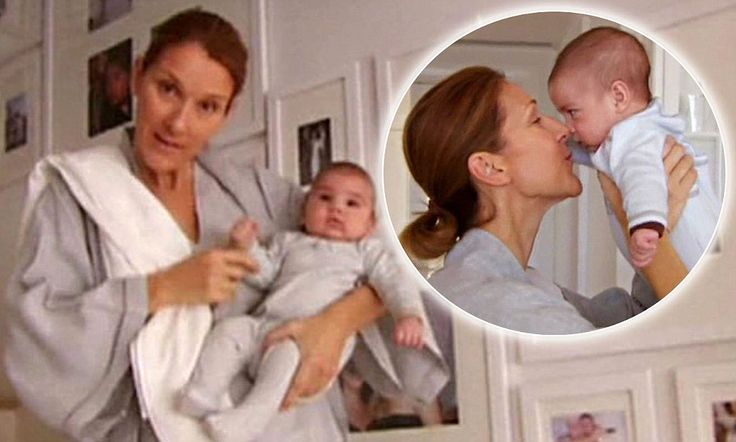 Celine Dion shows off her miracle twins... in her big white home