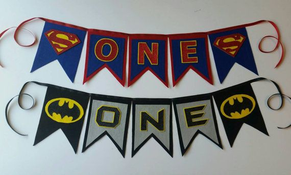 Www.withowlourlove.etsy.com Superman First Birthday Party ONE/NAME Felt and by WithOwlOurLove