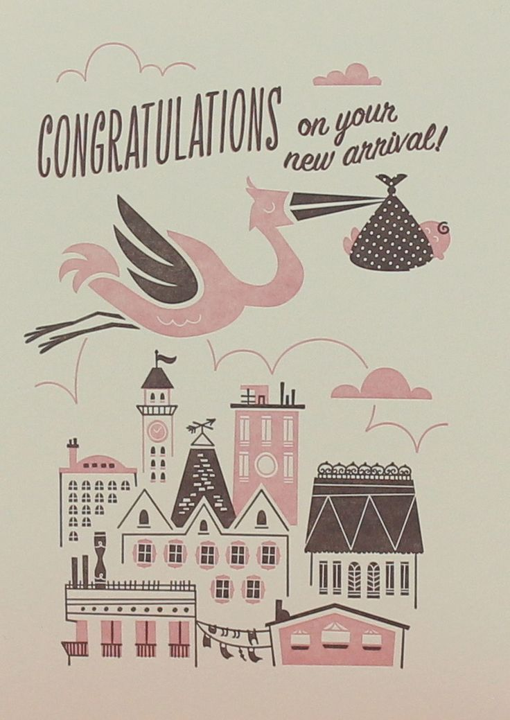 stork delivery #babycard | mosey