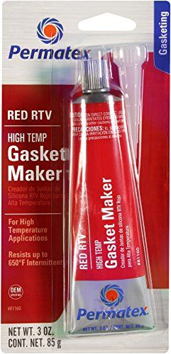 Permatex 81160 High-Temp Red RTV Silicone Gasket, 3 oz. - http://onlinebusiness-rc.com/autopaint/permatex-81160-high-temp-red-rtv-silicone-gasket-3-oz/