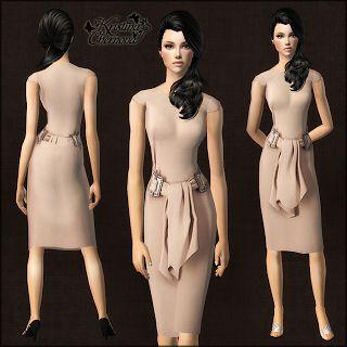 Kristina-Sims: Нежно-розовое официальное платье