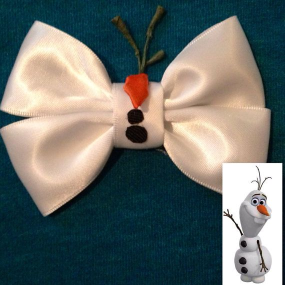 Bow inspired by Olaf from Disneys Frozen by BrookeHyland345, $6.00