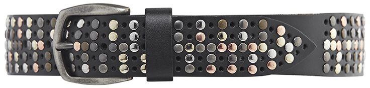 11010 jeans belt, 3,5 cm, black.