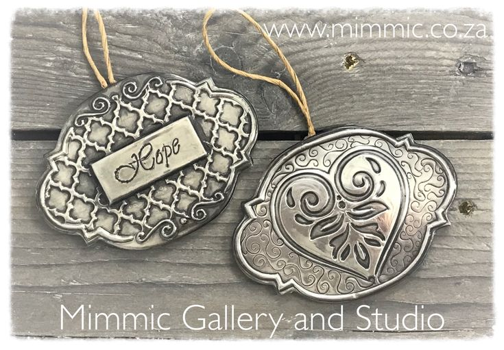 These Luxury Pewter Tags are now in creative Pewter kits and will be available from www.mimmic.co.za soon.
