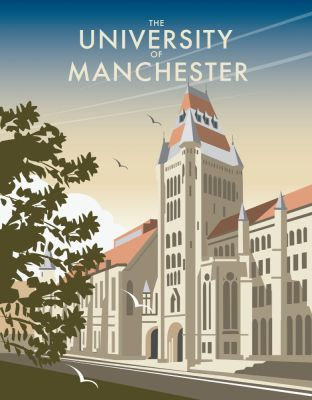 The University of Manchester. By Illustrator, Dave Thompson wholesale fine art print