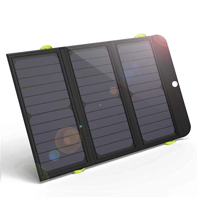 Giaride 21w Portable Solar Charger 4 Usb Port Quick Charge 8000mah Battery Sunpower Solar Panel Foldable Power Bank For Iphone X 8 7 6 Plus Ipad Ga Ali Express