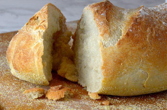 Domácí křupavým chlebem