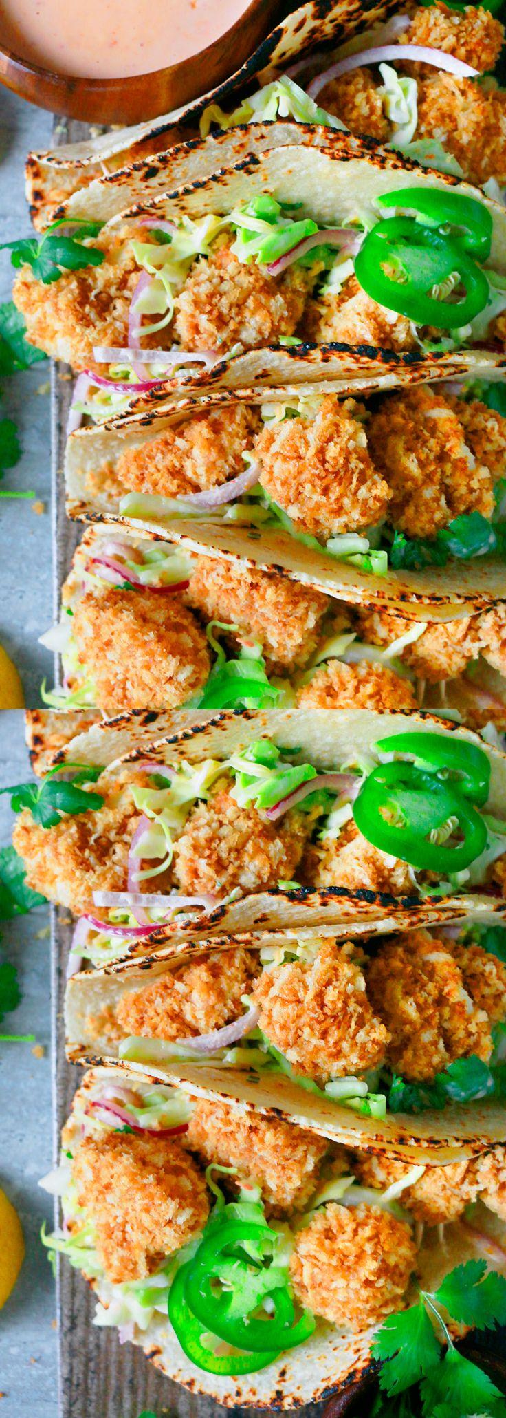 BAKED BANG BANG CAULIFLOWER TACOS  cauliflower tacos | bang bang cauliflower | baked cauliflower tacos | easy cauliflower tacos| crispy cauliflower tacos