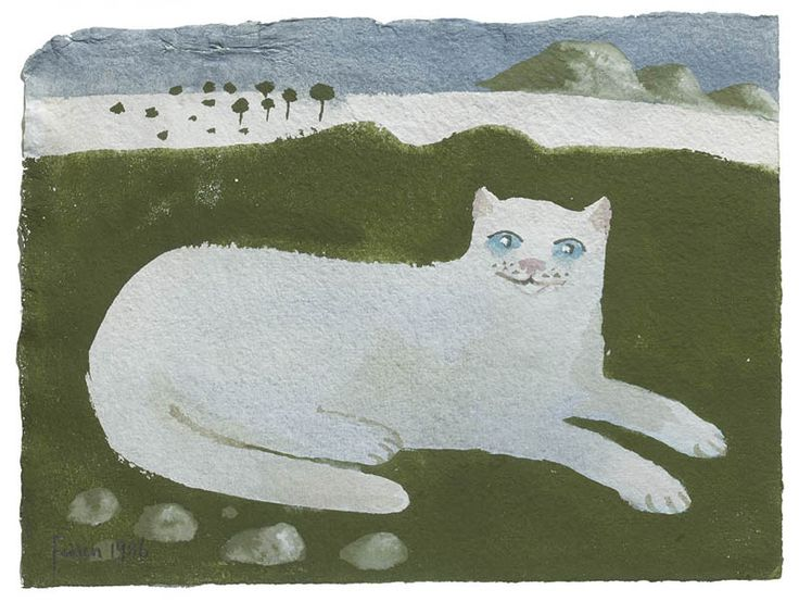 Mary Fedden | The White Cat