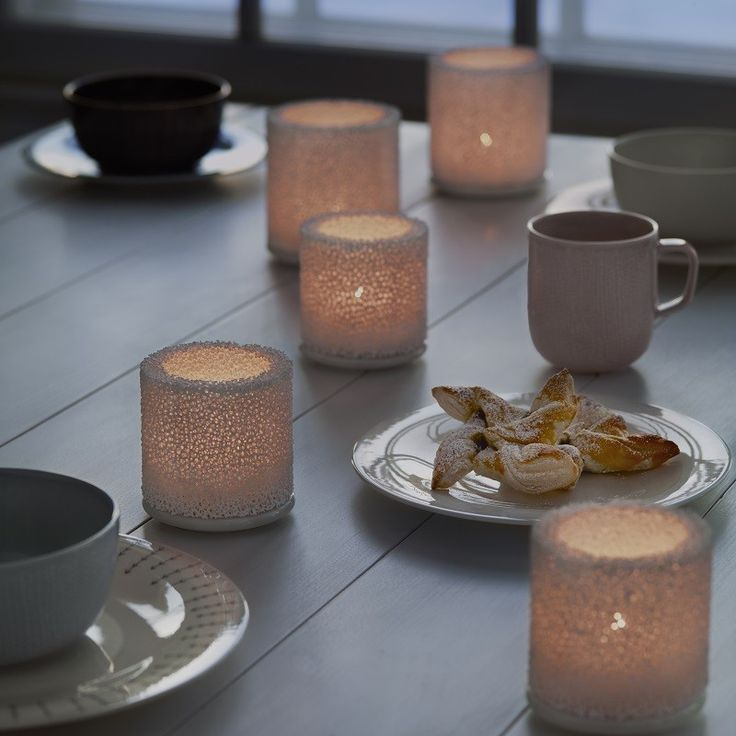 Iittala Fire Tea Light Holders, soft flame, filters through these coral like walls of these candle holders & gives a soothing warmth to create a really cosy and ambient feel.